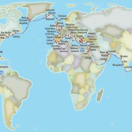itinéraire OCEANIA tour du monde 2021