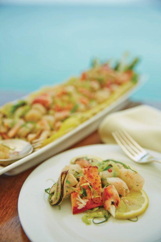 Plat gastronomique à bord du Seabourn Sojourn