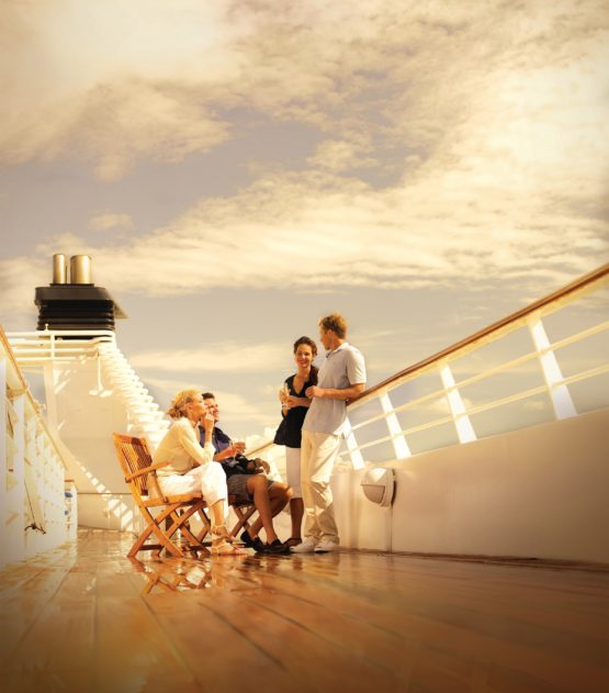 Relaxation sur le pont du Seabourn Sojourn