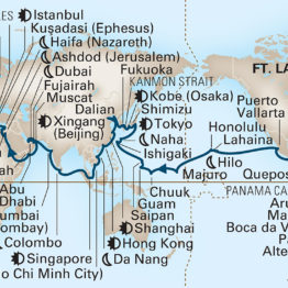 Itinéraire de la croisière Tour du Monde Holland America 2021