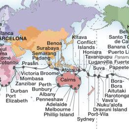 itinéraire de la croisière tour du monde Seabourn en 2022