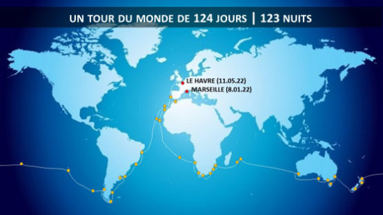 croisière autour du monde à bord du Jules Verne 2022